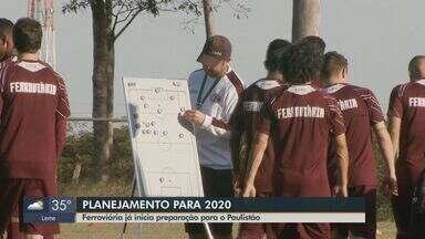 Ferroviária inicia preparação para o Paulistão do próximo ano - O time anunciou o planejamento para as competições de 2020 após ser desclassificado da Copa Paulista.