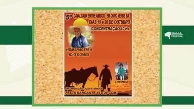 Agenda Rural: confira os principais eventos que acontecem no campo - A V Cavalgada Entre Amigos acontece neste domingo (20).