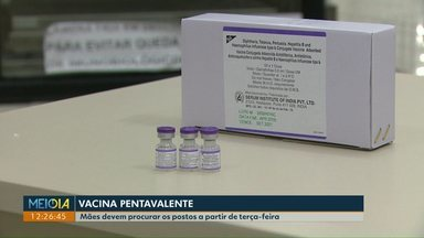Secretaria de Saúde de Cascavel recebe 600 doses de vacina pentavalente - Mães devem procurar os postos a partir de terça-feira.