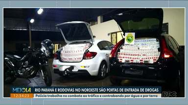 Policiais reforçam o combate ao tráfico de drogas e ao contrabando no noroeste - Operações são realizadas para evitar a entrada de materiais ilícitos no Paraná.