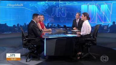 Thiago Rogeh fala sobre o Tocantins com os apresentadores do Jornal Nacional - Thiago Rogeh fala sobre o Tocantins com os apresentadores do Jornal Nacional