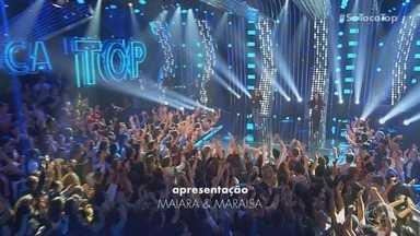 Programa de 19/10/2019 - As apresentadoras Maiara & Maraisa recebem a cantora Marília Mendonça, o cantor Pablo, a dupla Zé Neto & Cristiano, a cantora Olívia e o cantor Beto Barbosa.
