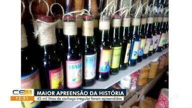 Polícia apreende 45 mil litros de cachaça na Serra da Ibiapaba - Saiba mais no g1.com.br/ce