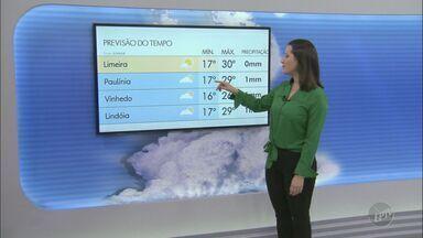 Confira a previsão do tempo para Campinas e região neste domingo (20) - Chegada de frente fria provoca chances de pancadas de chuva e quedas de temperatura. Mínimas chegam a 16° C nas cidades.