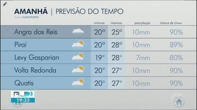 Domingo deve ser de tempo instável no Sul do Rio de Janeiro - Há possibilidade de chuva a qualquer hora.