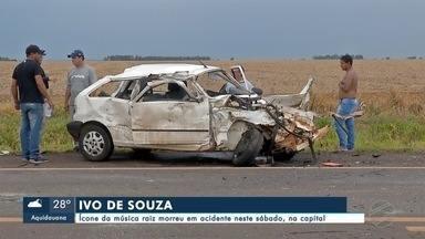 Morre cantor e compositor Ivo de Souza em acidente de carro - Em Campo Grande.