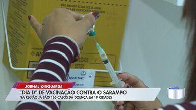 'Dia D' de vacinação contra sarampo deixa postos de saúde movimentados - Vale do Paraíba e região bragantina contabilizam 165 registros da doença em 19 cidades.
