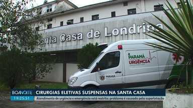 Cirurgias eletivas da Santa Casa estão suspensas - O atendimento de urgência e emergência está restrito. Problema é causado pela superlotação.