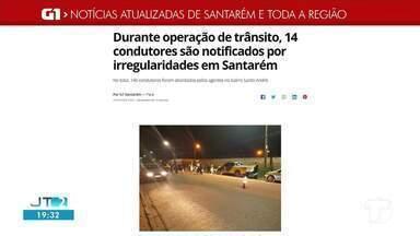 Operação de Trânsito no bairro Santo André é destaque no G1 Santarém e Região - Confira essa e outras notícias regionais.