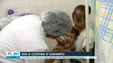Unidades de saúde em toda a região ficaram abertas para vacinação contra o sarampo - Veja como foi.