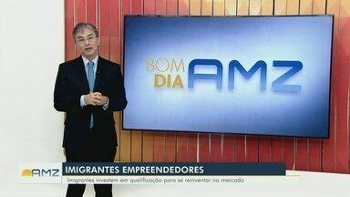 Carlos Oshiro fala sobre imigrantes que empreendem para recomeçar a vida em Manaus - Imigrantes radicados no Amazonas buscam oportunidades para se reerguerem.