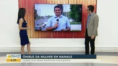 Unidade móvel da Sejusc realiza atendimentos gratuitos em Manaus - Unidade móvel oferece atendimentos sociais.