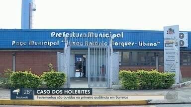 Testemunhas são ouvidas pela Justiça no caso da fraude dos holerites em Barretos, SP - Operação Partilha apontou fraude na folha de pagamento de funcionários públicos.
