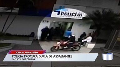 Polícia Civil procura dupla suspeita de arrastão em hospital e assaltos em São José - Criminosos abordaram vítimas em frente e dentro da unidade. Eles são suspeitos de outros crimes na região central da cidade.