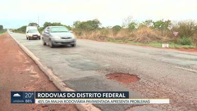 Pesquisa aponta problemas em malha rodoviária do Distrito Federal - 45% das vias do DF são regulares, ruins, ou péssimas, de acordo com pesquisa da CNT