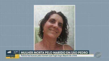 Polícia procura homem suspeito de matar a esposa em São Pedro - Caso aconteceu nessa na manhã desta terça-feira (22) e homem está foragido.