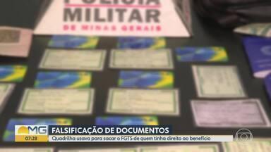 Polícia prende quadrilha suspeita de falsificar documentos para sacar FGTS - Pessoas foram detidas com carteiras de identidade e carteiras de trabalho.