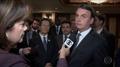 Jair Bolsonaro comenta crise no Chile, na Bolívia e as eleições na Argentina - Durante viagem ao Japão, presidente brasileiro mostrou preocupação com crises e com o futuro da Argentina e do Mercosul.