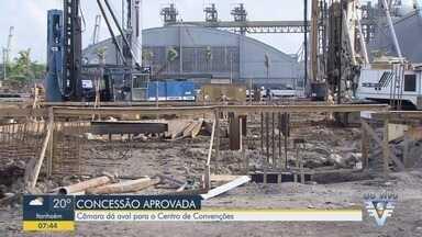 Câmara de Santos aprova projeto que autoriza concessão de novo centro de convenções - Convênio para construção do centro de convenções foi assinado ano passado. Concessão tem validade de 30 anos.