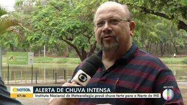 Meteorologista alerta para chuva intensa no Norte de Minas - Instituto Nacional de Meteorologia prevê chuva forte nesta quarta-feira (23).