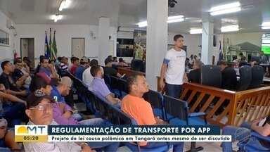 Projeto de lei para regulamentar transporte por app causa polêmica em Tangará - Projeto de lei para regulamentar transporte por app causa polêmica em Tangará