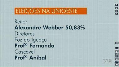 Eleição define novo reitor e novos diretores da Unioeste - Alexandre Webber foi eleito com 50,83% dos votos.
