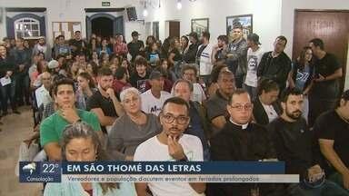 Moradores pedem flexibilidade em lei que limita eventos em São Tomé das Letras - Moradores pedem flexibilidade em lei que limita eventos em São Tomé das Letras