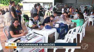 CIME comemora 2º aniversário com ações de saúde e cidadania em Santarém - Ação ocorreu no quartel da Companhia de Missões Especiais da Polícia Militar.