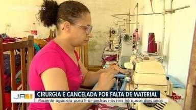 Paciente tem cirugia cancelada por falta de material, em Goiânia - Segundo ela, médicos alertaram que ele corre risco de perder o rim.