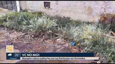 Morador de Ituiutaba faz denúncia sobre situação de abandono em rua da cidade - Após denuncia, Secretário de Obras da cidade comentou que o local está dentro do plano de recapeamento do município.