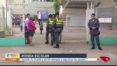 Guarda de Cachoeiro de Itapemirim e PM reforçam segurança em escolas, no ES - Ação é em repressão ao tráfico de drogas.