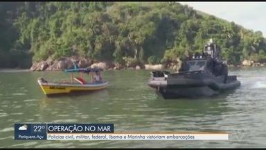 Operação conjunta no Porto de Santos mira embarcações - Operação conta com a participação das Polícias Federal, Militar e Ambiental, além da Capitania dos Portos e Ibama.