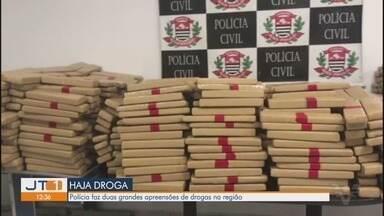 Polícias Civil e Militar realizam operação e apreendem mais de uma tonelada de drogas - No total, foram apreendidos cerca de 1.048 tijolos de maconha, cerca de 1.131 kg.