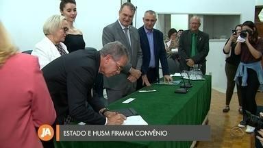 Hospital Universitário e Governo do Estado assinam convênio para repasse de recursos - O contrato foi assinado na manhã de hoje.