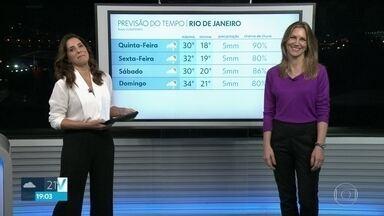 Saiba como vai estar o clima no Rio no resto da semana - No Rio de Janeiro e na Baixada Fluminense, pode cair uma chuva fina na quinta-feira (24) e no sábado. Mas no domingo, deve aparecer o Sol.