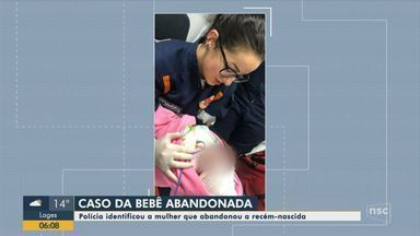 Polícia identifica mulher que abandonou bebê recém-nascida em Florianópolis - Polícia identifica mulher que abandonou bebê recém-nascida em Florianópolis