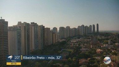 Confira a previsão do tempo para esta quinta-feira (24) em Ribeirão Preto - Temperatura pode chegar a 32ºC.