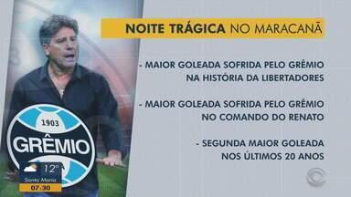 Resultado da quarta-fera (23) foi a maior goleada sofrida pelo Grêmio na Libertadores - Assista ao vídeo.