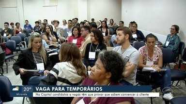 Curso em Campo Grande ajuda na contratação de temporários para o comércio - Durante as aulas, o candidato descobre se tem 'tino' para vendas.