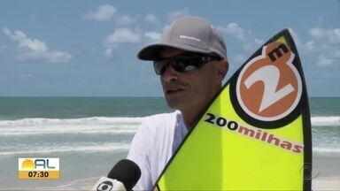 """Experiente, Kingle Peixoto segue """"tirando onda"""" nas praias - Surfista tem mais de 30 anos de praia"""