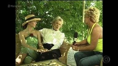 Em 2003, Ana Maria visitou a avó de Guilhermina Guinle em Pelotas - Dona Antoninha Berchon Sampaio contou muitas histórias e ensinou receita típica de doce para a apresentadora