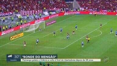 Flamengo goleia o Grêmio e vai à final da Libertadores - Partida terminou em 5 a 0 para o time finalista; veja os gols.