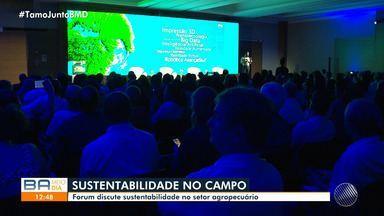 Fórum reúne agricultores e pesquisadores na manhã desta quinta-feira, em Salvador - Evento discutiu técnicas de como produzir no campo sem agredir o meio ambiente.