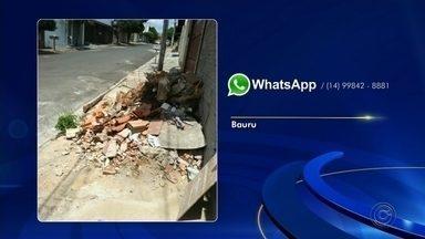"""Confira as reclamações enviadas por telespectadores pelas redes sociais - Quadro """"Cantinho do Zap"""" mostra as reclamações enviadas ao WhatsApp da TV TEM por telespectadores do Centro-Oeste Paulista."""