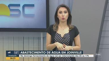 Abastecimento de água será interrompido para realização de obras em Joinville - Abastecimento de água será interrompido para realização de obras em Joinville