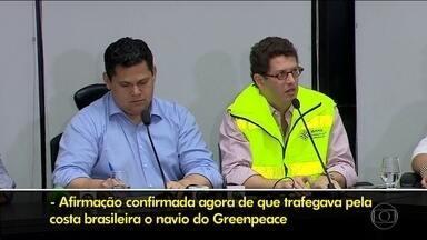 Greenpeace vai à Justiça contra Ricardo Salles por insinuações em uma rede social - O ministro do Meio Ambiente Ricardo Salles sugeriu, sem apresentar provas, que a ONG teria alguma responsabilidade pelo vazamento de óleo nas praias do Nordeste.