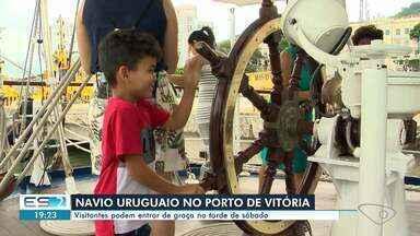 Navio uruguaio no Porto de Vitória recebe visitantes de forma gratuita - A entrada é gratuita e o acesso é realizado pelo portão que fica em frente ao Palácio Anchieta. O veleiro fica no Porto de Vitória até este sábado (26).