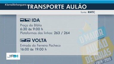 G1 transmite ao vivo o Maior Aulão de Goiás, preparatório para o Enem 2019 - Evento realizado pela TV Anhanguera acontece das 8h às 18h, neste sábado (26), em Goiânia.