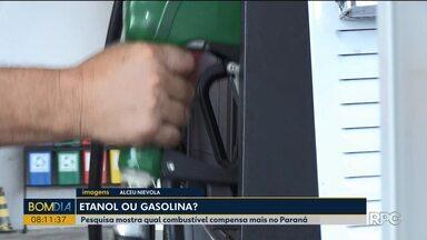 Pesquisa mostra qual combustível compensa mais no Paraná - O etanol compensa mais em apenas cinco Estados.