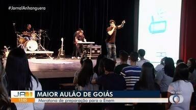 Veja como está o Maior Aulão de Goiás - Aulas de todas as disciplinas relembrando o conteúdo para o Enem 2019.